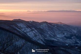 tramonto monte falco campigna
