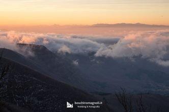 belvedere monte falco tramonto