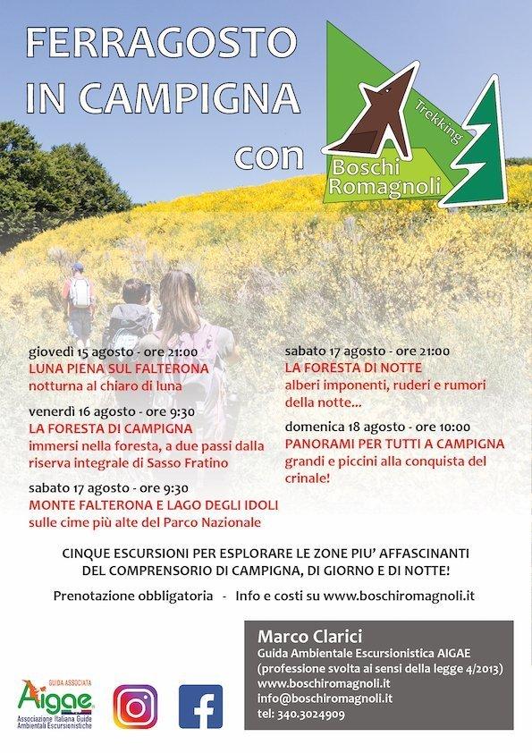 Trekking Ferragosto Campigna Foreste Casentinesi